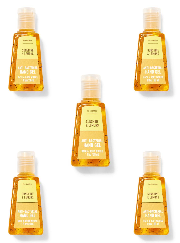 Sunshine & Lemons PocketBac Hand Sanitizer, 5-Pack