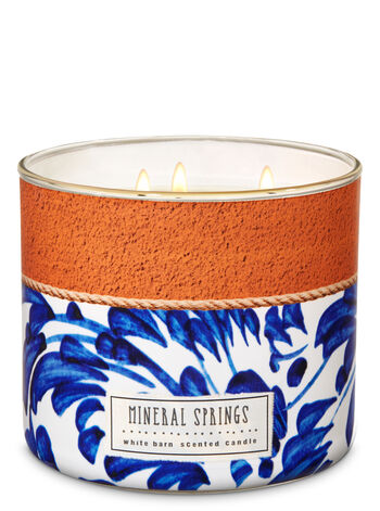 White Barn Mineral Springs 3-Wick Candle - Bath And Body Works