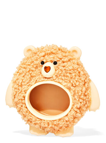Fuzzy Bear Visor Clip Car Fragrance Holder
