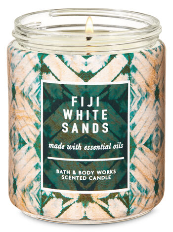 Fiji White Sands Single Wick Candle - Bath And Body Works