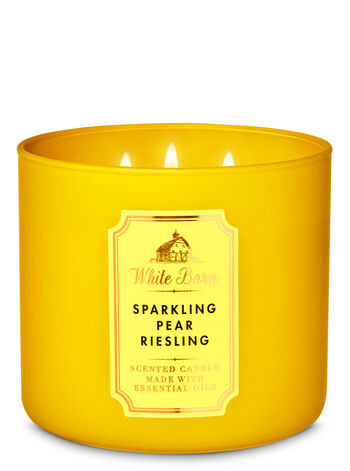 White Barn Sparkling Pear Riesling 3-Wick Candle - Bath And Body Works