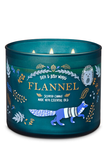 Flannel 3-Wick Candle - Bath And Body Works
