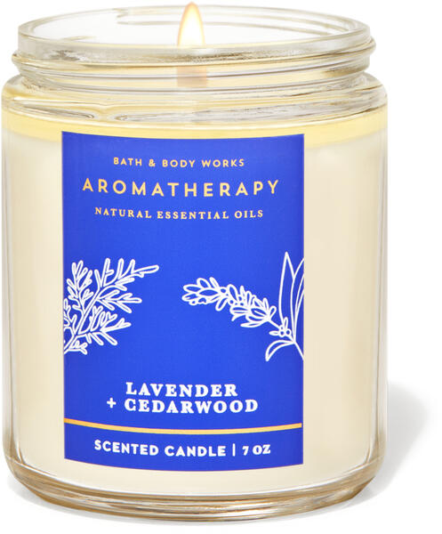 Lavender Cedarwood Single Wick Candle