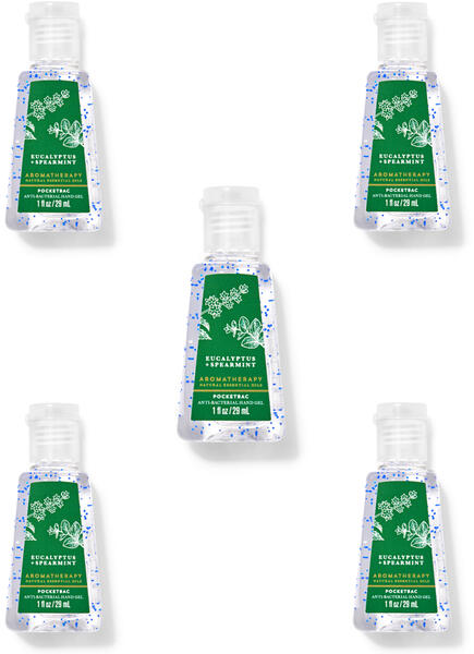 Eucalyptus Spearmint PocketBac Hand Sanitizers, 5-Pack