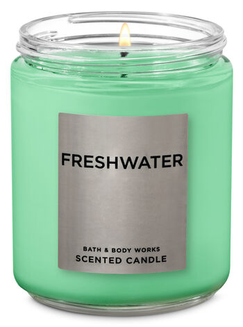 Freshwater Single Wick Candle - Bath And Body Works