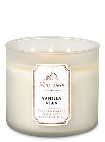 White Barn Vanilla Bean 3-Wick Candle - Bath And Body Works
