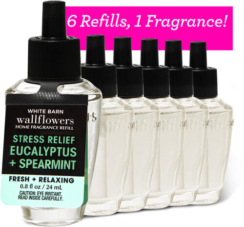 Eucalyptus Spearmint Wallflowers Fragrance Refill, 6-Pack