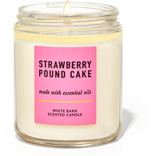 Strawberry Pound Cake Single Wick Candle