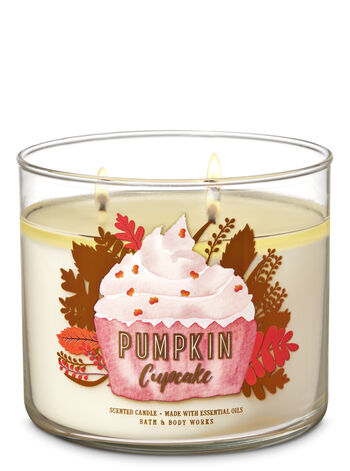 Pumpkin Cupcake 3-Wick Candle - Bath And Body Works