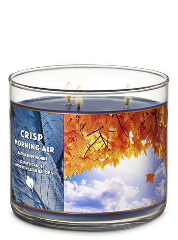 Crisp Morning Air 3-Wick Candle - Bath And Body Works