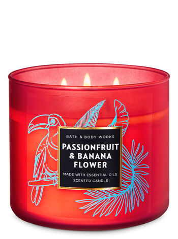 Passionfruit & Banana Flower 3-Wick Candle - Bath And Body Works
