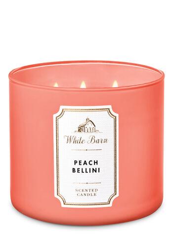 Peach Bellini 3 Wick Candle White Barn Bath Body Works
