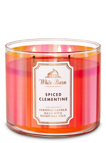 White Barn Spiced Clementine 3-Wick Candle - Bath And Body Works