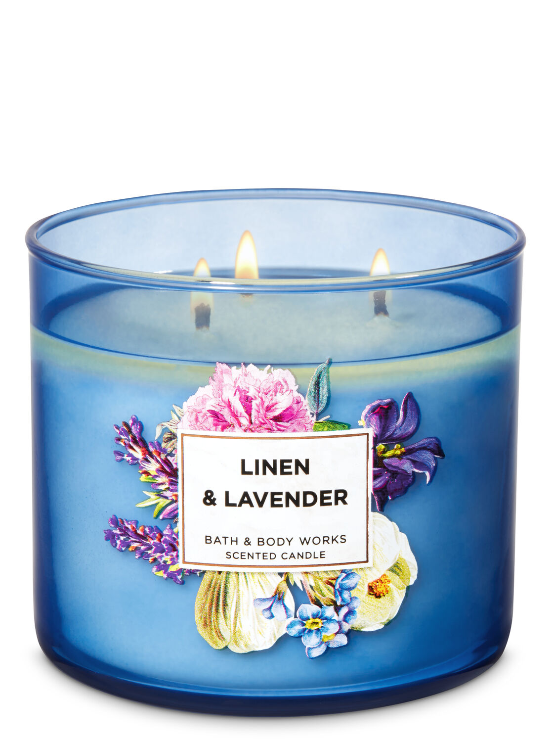 Linen Lavender 3 Wick Candle Bath Body Works