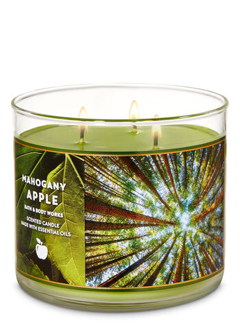 Mahogany Apple 3-Wick Candle - Bath And Body Works