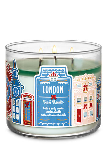 Tea & Biscuits 3-Wick Candle - Bath And Body Works
