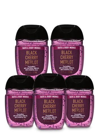 Black Cherry Merlot PocketBac Hand Sanitizer, 5-Pack - Bath And Body Works
