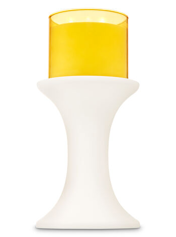Tall White Pedestal 3-Wick Candle Holder - Bath And Body Works