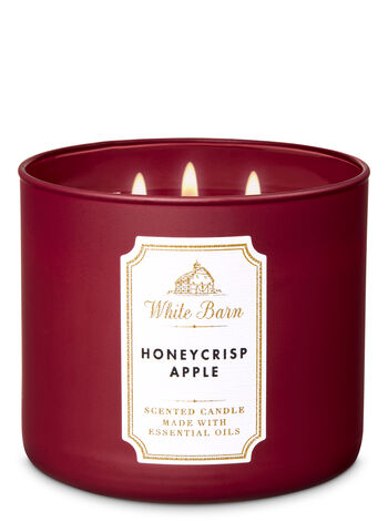 White Barn Honeycrisp Apple 3-Wick Candle - Bath And Body Works