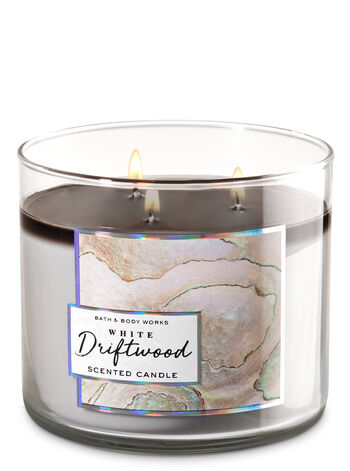 White Driftwood 3-Wick Candle - Bath And Body Works