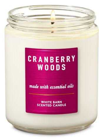 Cranberry Woods Single Wick Candle - Bath And Body Works