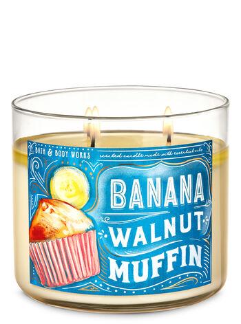 Banana Walnut Muffin 3-Wick Candle - Bath And Body Works