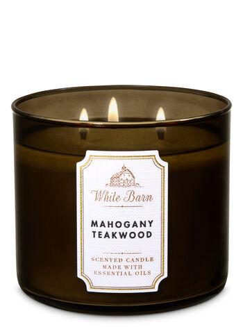 Mahogany Teakwood 3 Wick Candle