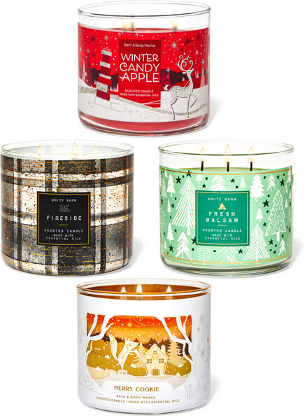 Christmas Favorites 3-Wick Candle, 4-Pack