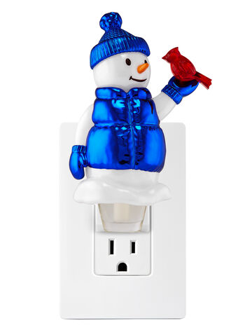 Snowman with Bird Nightlight Wallflowers Fragrance Plug