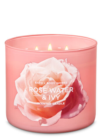 Rose Water & Ivy 3-Wick Candle - Bath And Body Works
