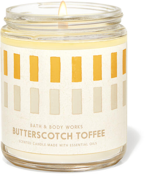 Butterscotch Toffee Single Wick Candle