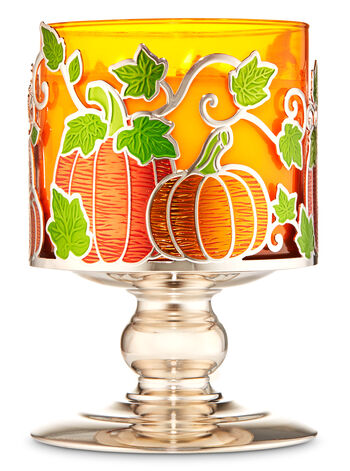 Pumpkin Patch Pedestal 3-Wick Candle Holder - Bath And Body Works