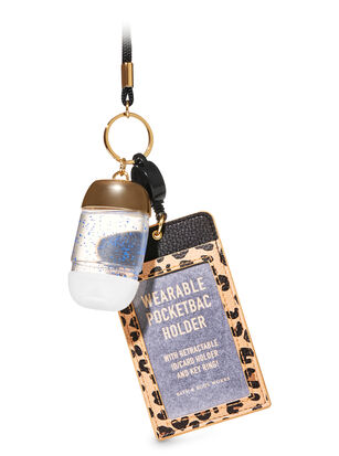 Wearable Leopard ID Card PocketBac Holder