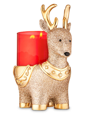 Reindeer Pedestal 3-Wick Candle Holder - Bath And Body Works