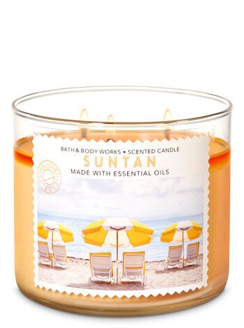 Suntan 3-Wick Candle - Bath And Body Works