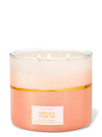 Vanilla & Peach Tea 3-Wick Candle