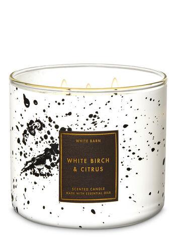 White Barn White Birch & Citrus 3-Wick Candle - Bath And Body Works