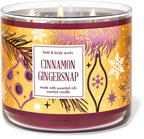 Cinnamon Gingersnap 3-Wick Candle