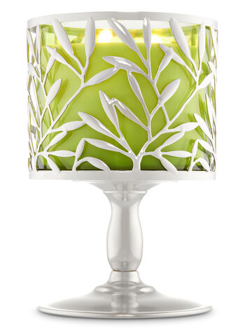 Vine Leaf Pedestal 3-Wick Candle Holder - Bath And Body Works