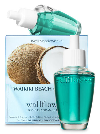 Waikiki Beach Coconut Wallflowers Refills 2-Pack - Bath And Body Works
