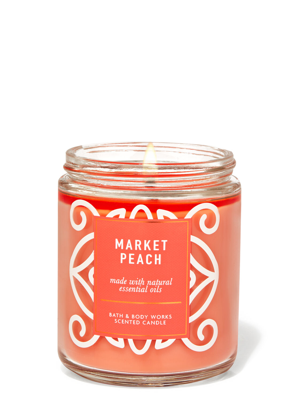 Market Peach Single Wick Candle