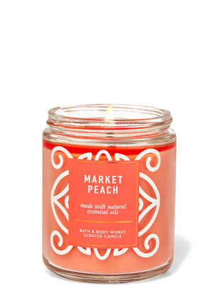 Market Peach Single Wick Candle