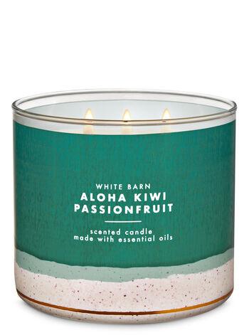 White Barn Aloha Kiwi Passionfruit 3-Wick Candle - Bath And Body Works