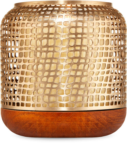 Gold Luminary Single Wick Candle Holder