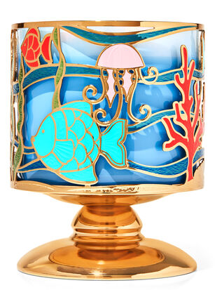 Underwater Scene 3-Wick Candle Holder