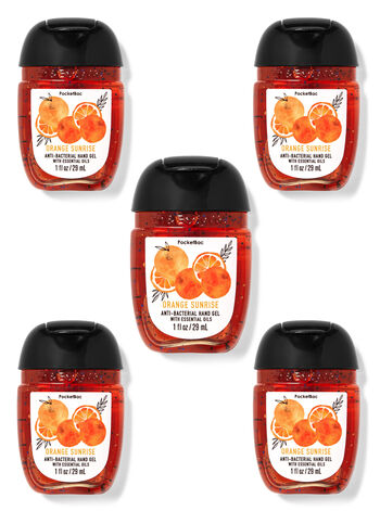 Orange Sunrise PocketBac Hand Sanitizers, 5-Pack