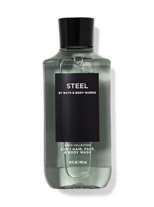 Steel 3-in-1 Hair, Face & Body Wash