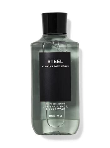 Steel 3-in-1 Hair, Face & Body Wash
