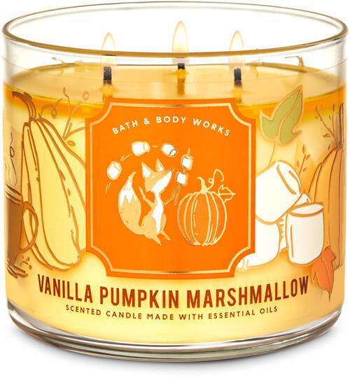 Vanilla Pumpkin Marshmallow 3-Wick Candle
