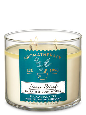 Aromatherapy Eucalyptus Tea 3-Wick Candle - Bath And Body Works